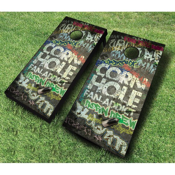 10 Piece Fan Addict Cornhole Set by AJJ Cornhole