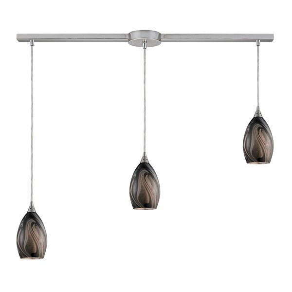 Jeb 3-Light Linear Pendant by Latitude Run