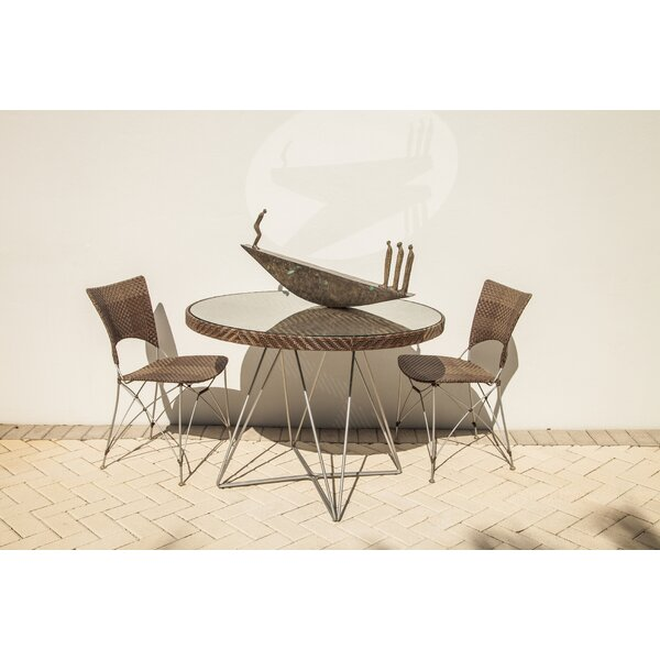 Zen Outdoor Glass Dining Table by Bungalow Rose