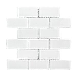 Winter Solstice 9.38 x 11.75 Glacier Tile in White by Kellani