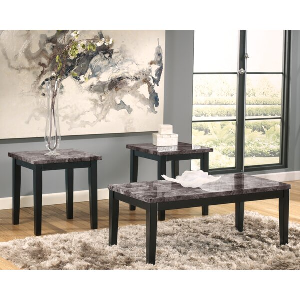 Crume 3 Piece Coffee Table Set by Charlton Home Charlton Home®