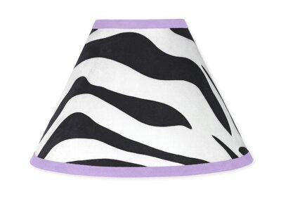 Zebra 10 Cotton Empire Lamp Shade by Sweet Jojo Designs