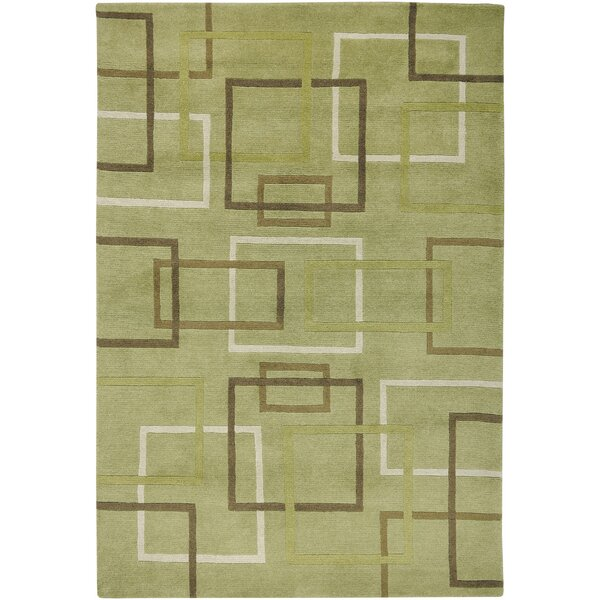 Dakar Hand-Knotted Lime Area Rug by Meridian Rugmakers