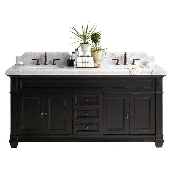 Torino 73 Double Bathroom Vanity Set with Mirror