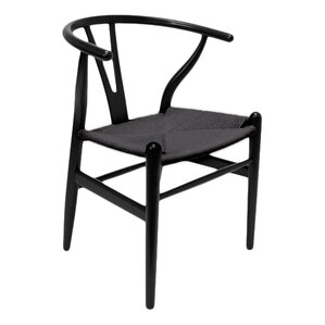 marcano wishbone solid wood dining chair set of 2