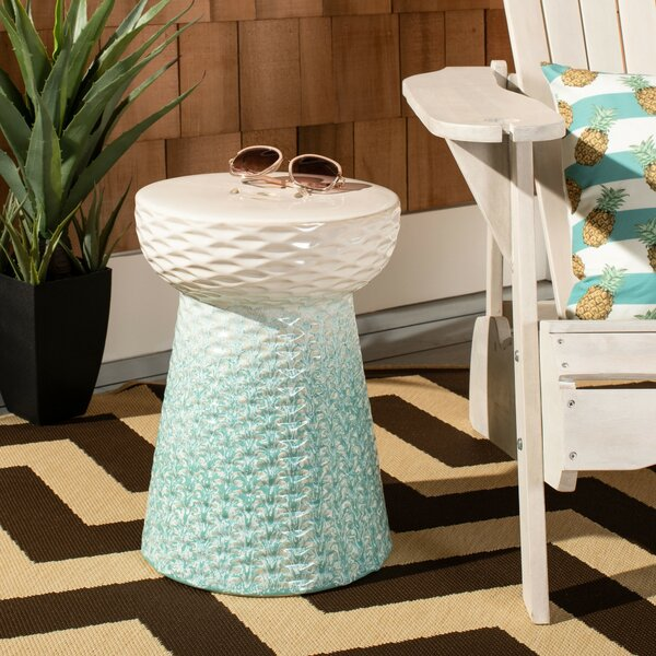Jemma  Ceramic Garden Stool by Bungalow Rose