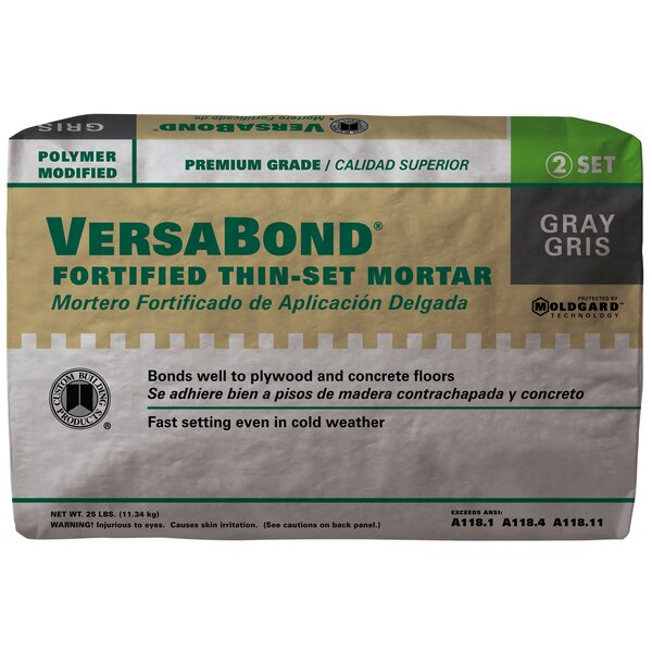 VersaBond Fortified Thin Mortar Set 25lb by Custom