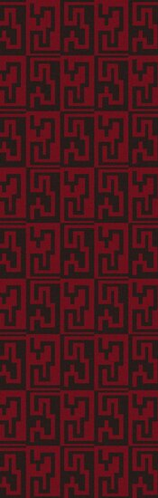 Donley Espresso & Venetian Red Geometric Area Rug by Wrought Studio
