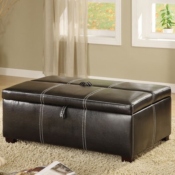 Apolline Leather Ottoman by Hokku Designs