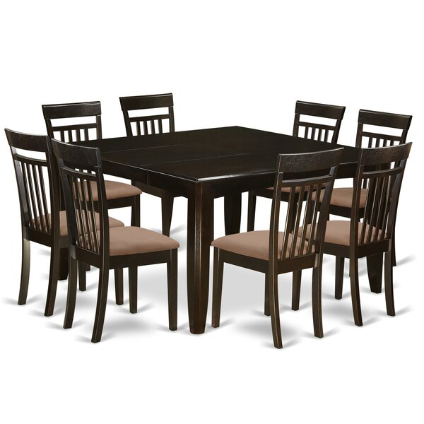 Pilning 9 Piece Extendable Solid Wood Dining Set by August Grove August Grove