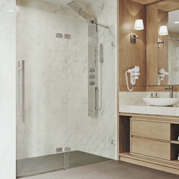 Rochelle Adjustable 60.75 x 74 Hinged Frameless Shower Door by VIGO