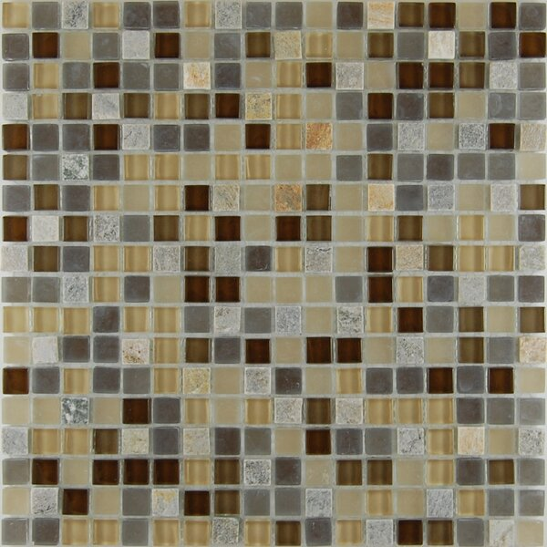 Quartz 0.63 x 0.63 Natural Stone Mosaic Tile in Chocolate by Travis Tile Sales