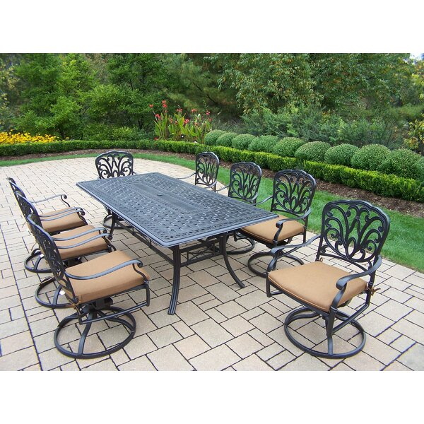 Bosch Traditional 9 Piece Dining Set with Cushion by Darby Home Co