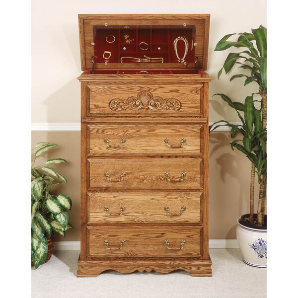 Country Heirloom 5 Drawer Safe Top Chest by Bebe Furniture