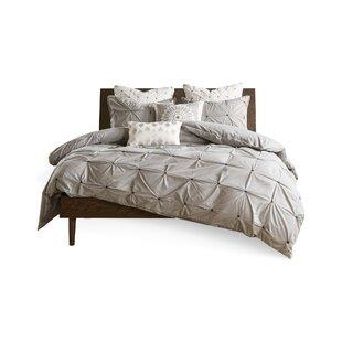 Greenville Elastic Embroidered Cotton Duvet Cover Set