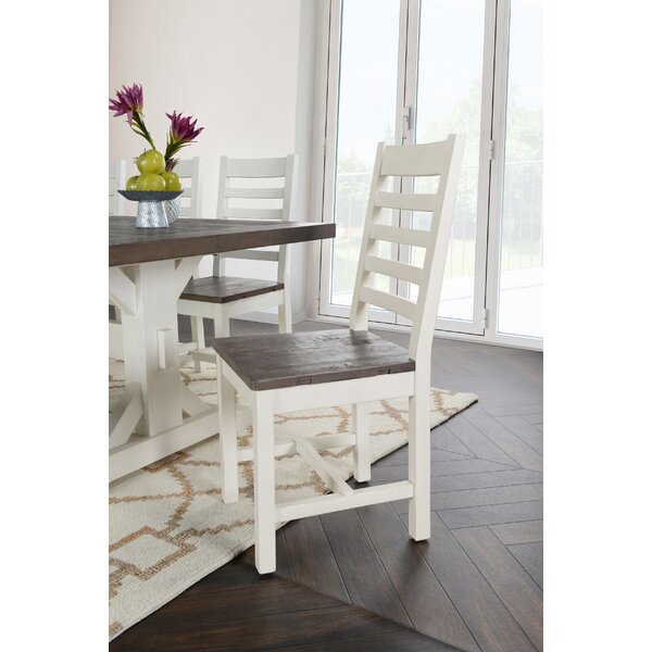 Bulah Solid Wood Dining Chair (Set of 2) by Rosecliff Heights