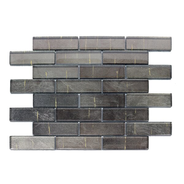 Folia 1.38 x 4 Glass Mosaic Tile in Athirium Gray by Solistone
