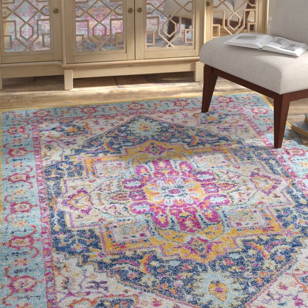 Almonte Pink/Yellow Area Rug by Bungalow Rose
