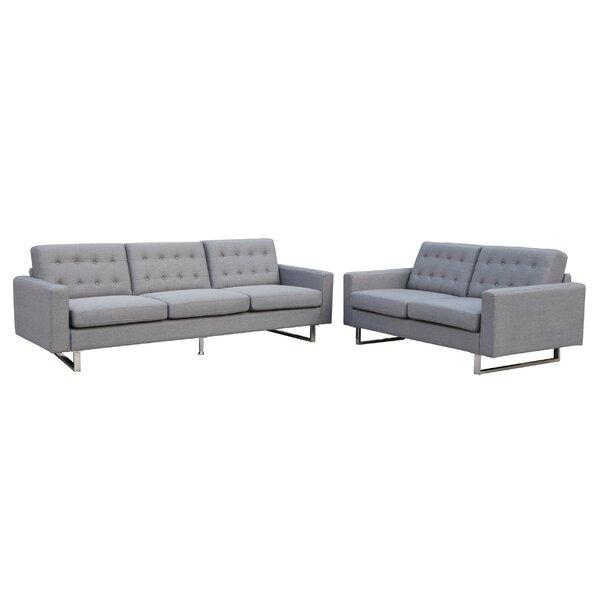 Beneva 2 Piece Living Room Set by New Spec Inc
