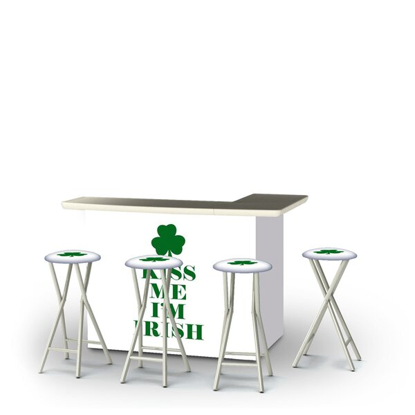 Zierikzee St Patricks Day Kiss Me I'm Irish 5-Piece Bar Set by East Urban Home East Urban Home