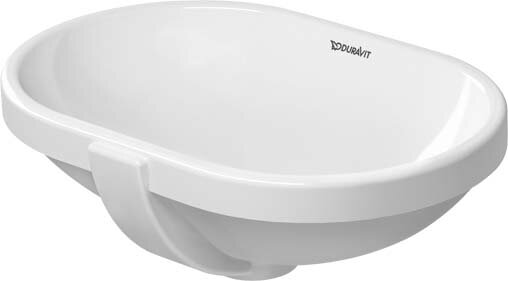 Foster Ceramic Oval Undermount Bathroom Sink with Overflow by Duravit