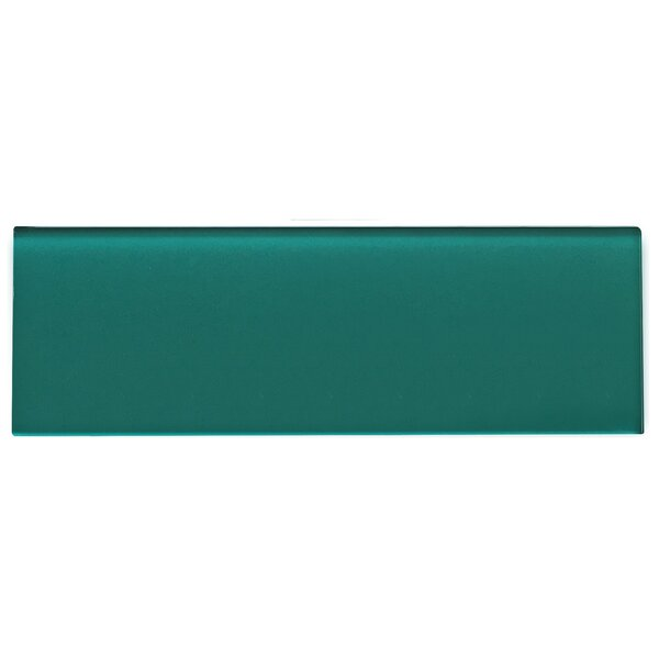 Premium Series Individual 4 x 12 Glass Subway Tile in Glossy Dark Teal by WS Tiles