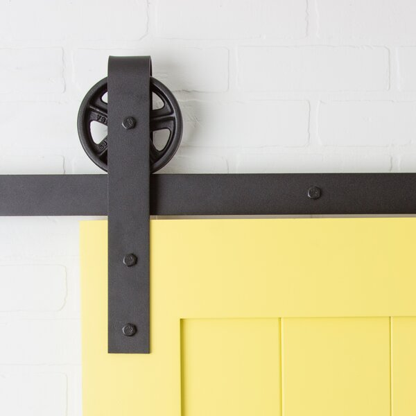 Vintage Strap Sliding Barn Door Hardware by Artisan Hardware