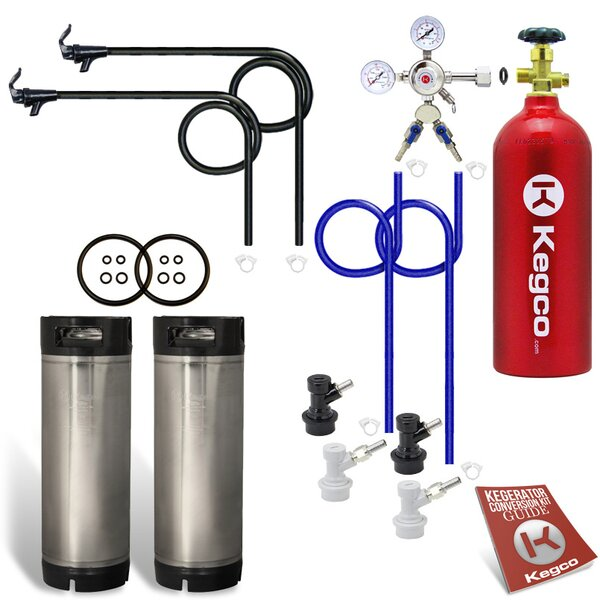 Two Keg Homebrew Party Kegerator Kit with 5 lb. CO2 Tank - Ball Lock by Kegco