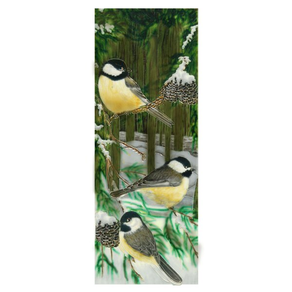 Chickadee in Forest Tile Wall Decor by Continental Art Center