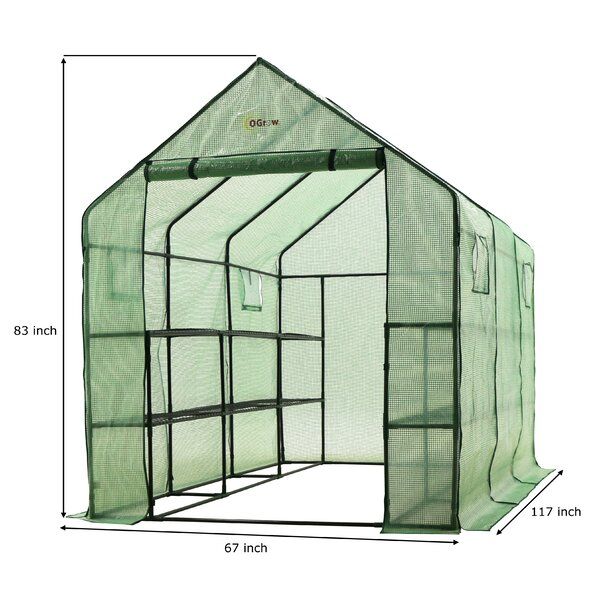 5.5 Ft. W x 10 Ft. D Greenhouse by OGrow