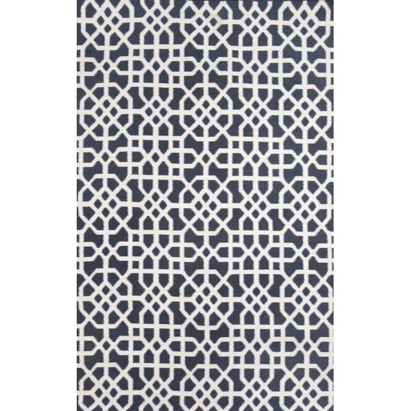 Tile Indigo/Cream Indoor/Outdoor Hand Woven Area Rug by Tuft & Loom