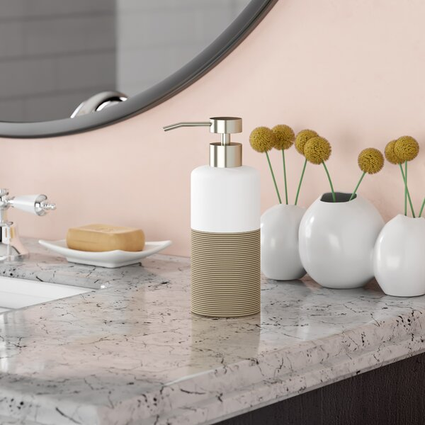 Jett Countertop Soap and Lotion Dispenser by Wade Logan