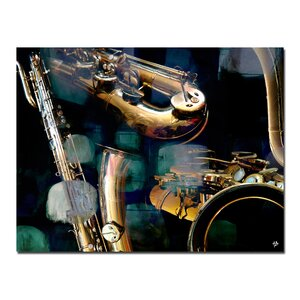 The Color of Jazz VI' Graphic Art on Canvas by Ready2hangart