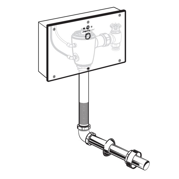 Concealed 1.28 GPF DC Wrist Blade Flush Valve, Exposed Back Spud by American Standard