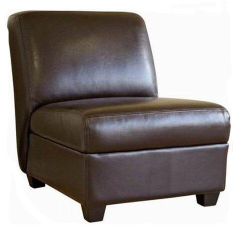 Baxton Studio Fleance Leather Slipper Chair