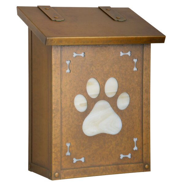 Dog Paw Wall Mounted Mailbox by America's Finest Lighting Company