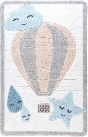 Singh Cloudy Beige/Blue Area Rug by Harriet Bee