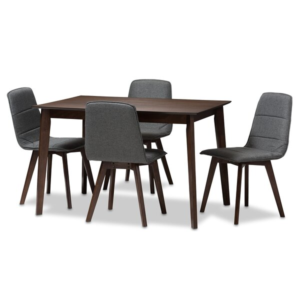 Faning Upholstered 5-Piece Dining Set By Wrought Studio