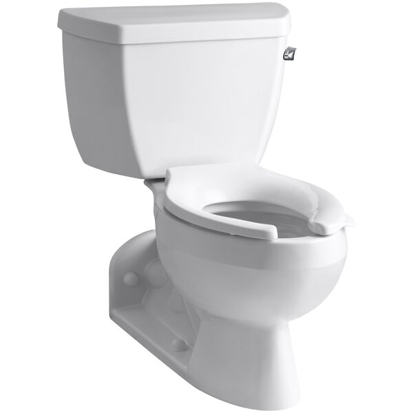 Barrington Two-Piece Elongated 1.6 GPF Toilet with Pressure Lite Flushing Technology and Right-Hand Trip Lever by Kohler