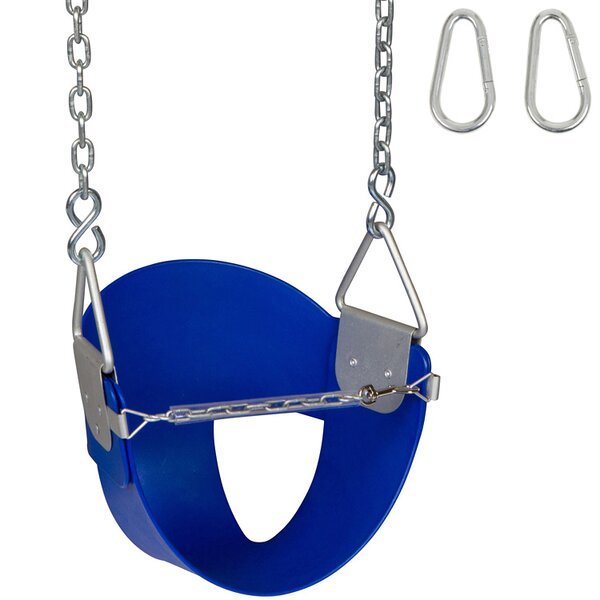 Highback Half Bucket Swing Seat with Chains and Hooks by Swing Set Stuff