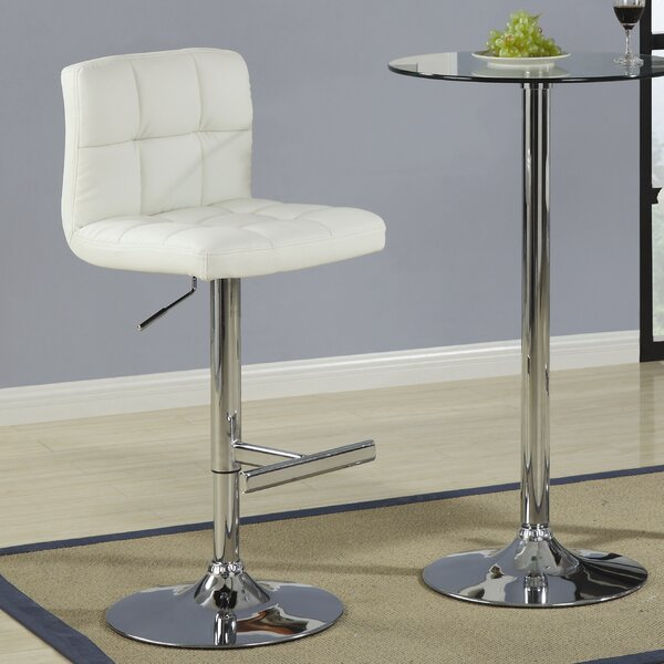 Harish Adjustable Height Swivel Bar Stool (Set of 2) by Orren Ellis