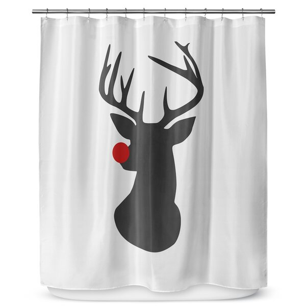 Rudolph 90 Shower Curtain by KAVKA DESIGNS