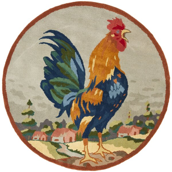 Rooster on The Hill Area Rug by Safavieh