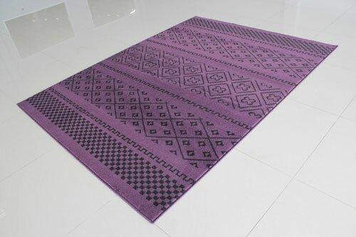 Purple/Black Area Rug by Rug Tycoon
