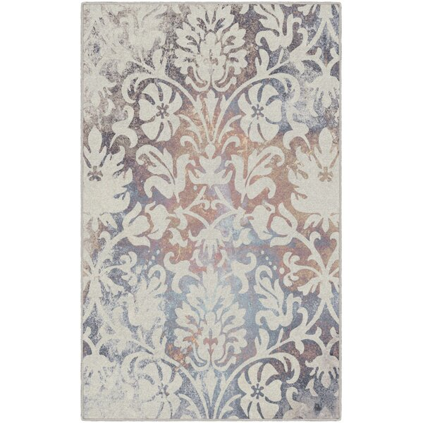 Messerly Antique Scroll Cream Area Rug by House of Hampton
