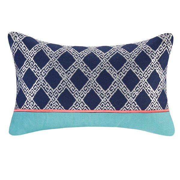 Mix and Match Embroidery Cotton Lumbar Pillow by Josie by Natori
