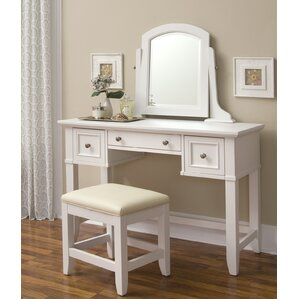 vanity and work desk combo. Lafferty Vanity  Stool Set Corner Makeup Table Wayfair