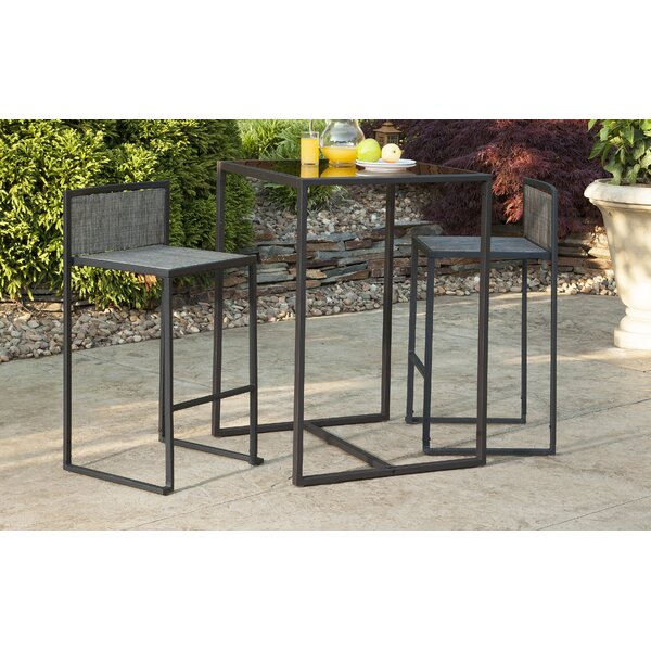 Drake 3 Piece Bar Height Dining Set by Liberty Garden Patio