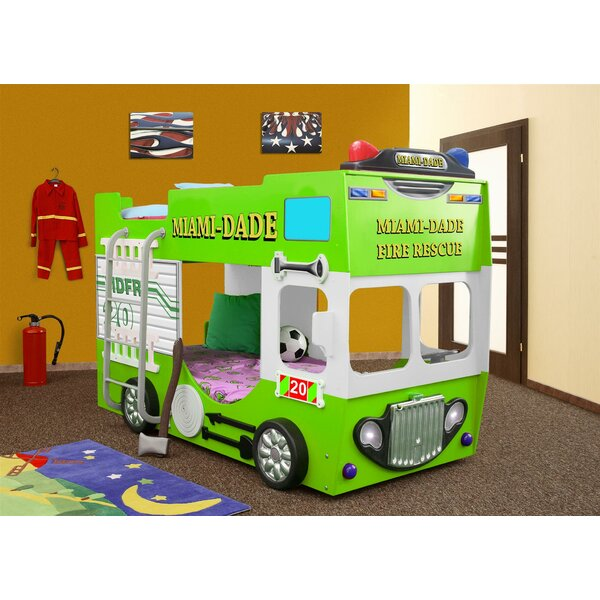 Lutterworth Fire Truck Toddler Bunk Bed with Mattress by Zoomie Kids