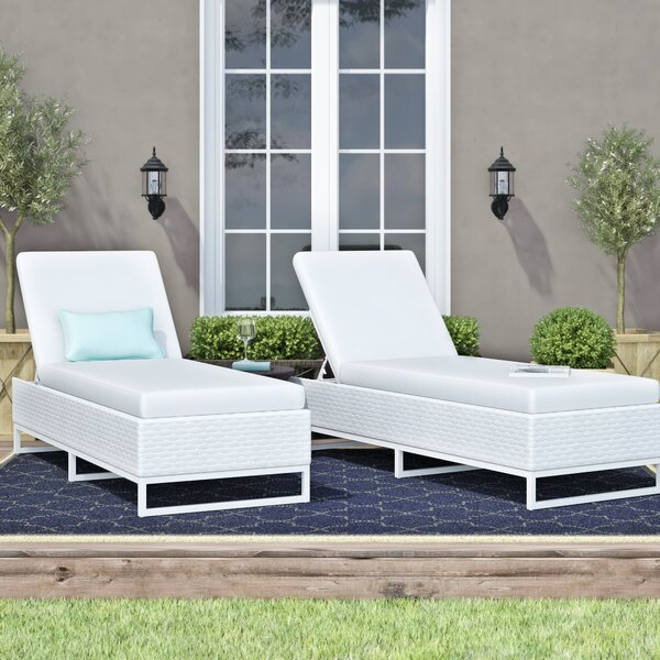 Menifee Reclining Sun Lounger Set with Cushion (Set of 2) by Sol 72 Outdoor Sol 72 Outdoor